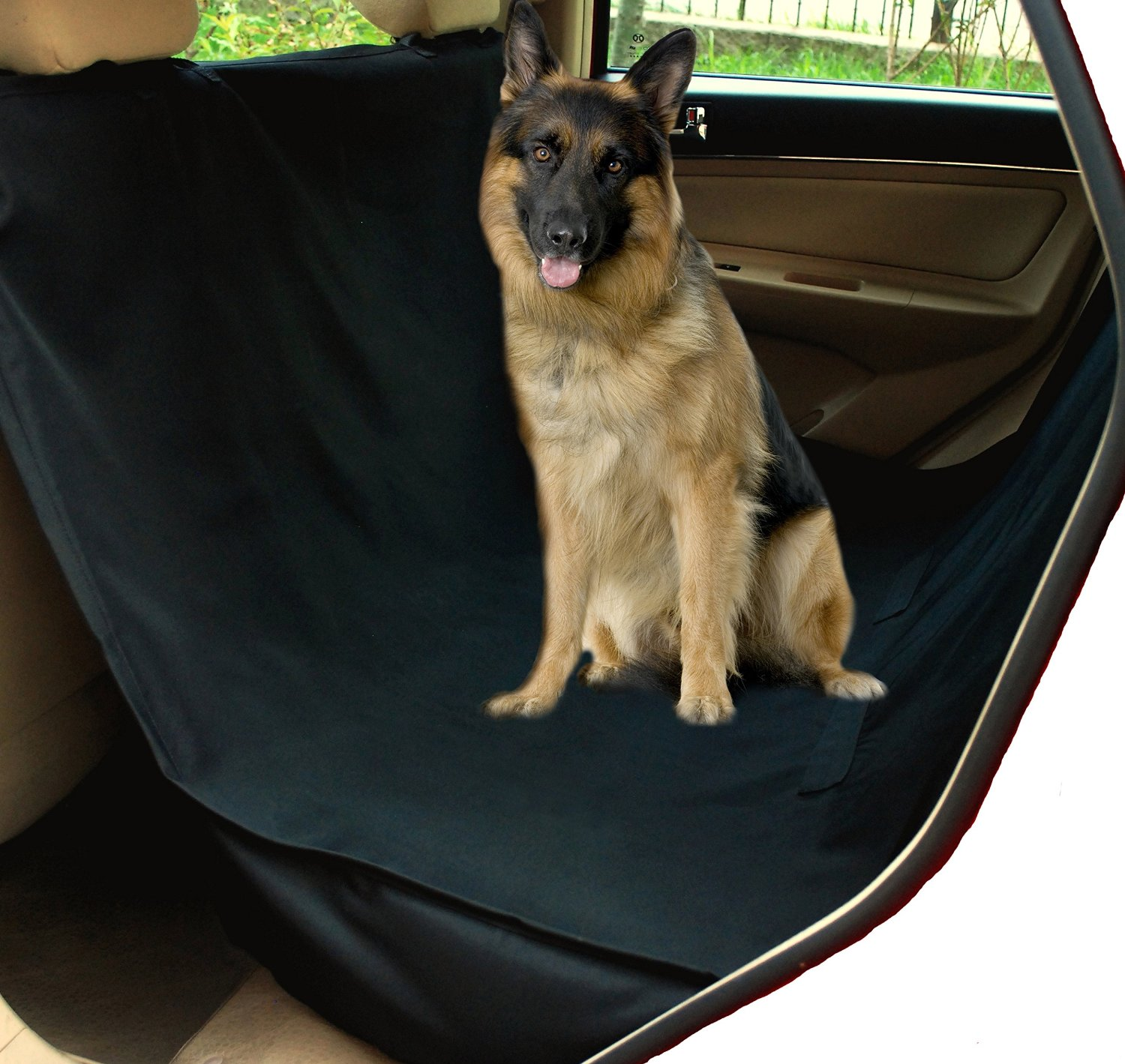 NAC&ZAC Waterproof Hammock Best Dog Car Seat Covers, Non-slip, Extra Side Flaps, Machine Washable